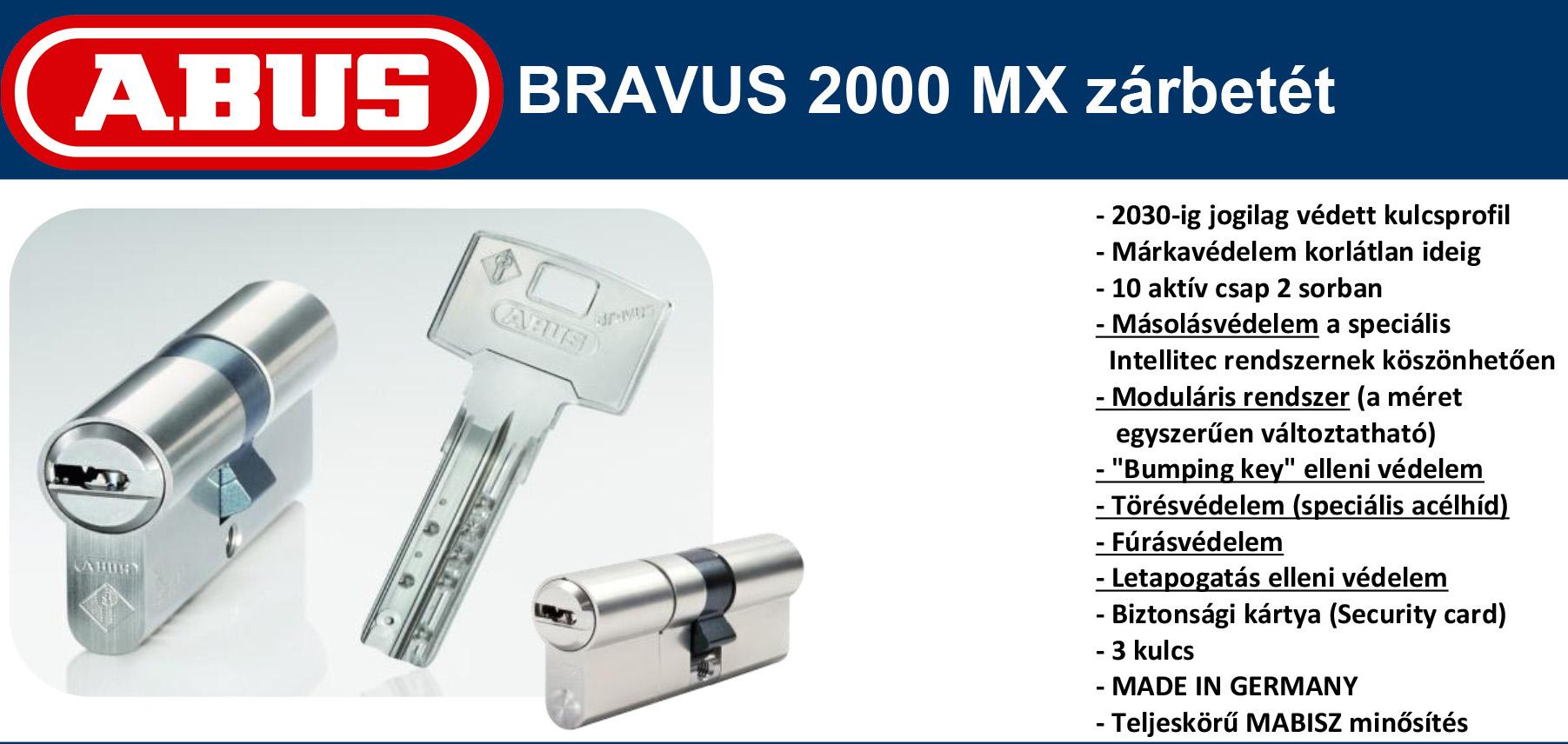 Abus Bravus 2000 MX zárbetét